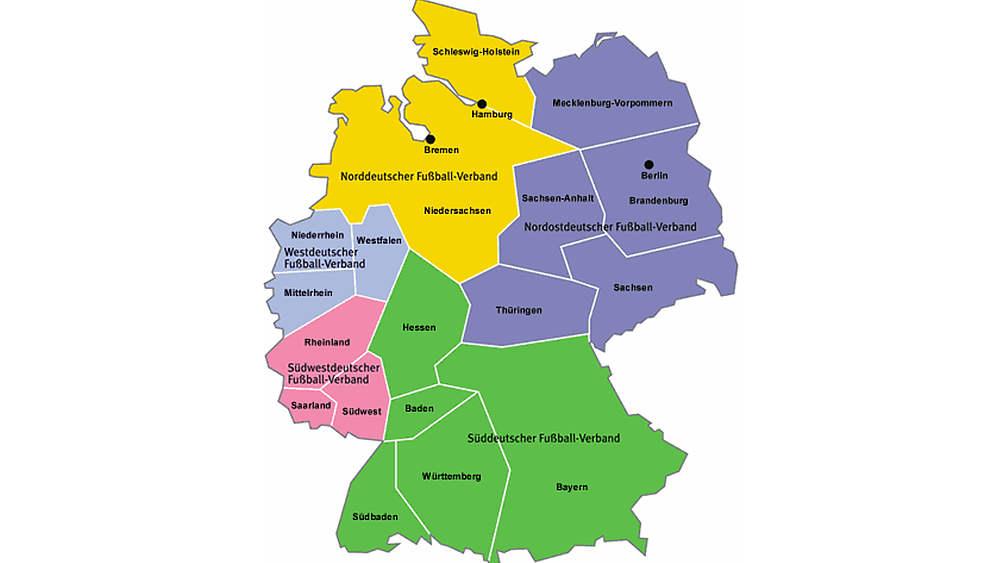 Landes Regionalverbande Verbandsstruktur Der Dfb