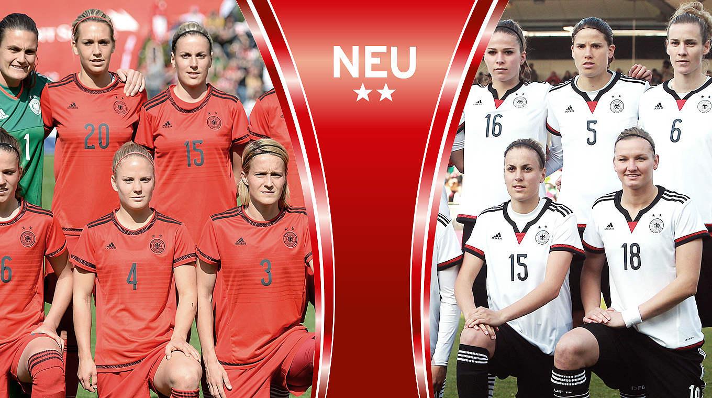 Im DFB Fanshop erhältlich: Die neuen Frauen Trikots :: DFB