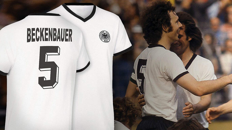 Deutschland Trikot 1974 in Fußballnationalmannschafts