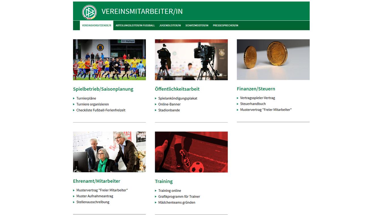 Praxishilfen für Vereinsmitarbeiter :: DFB - Deutscher Fußball-Bund e.V.