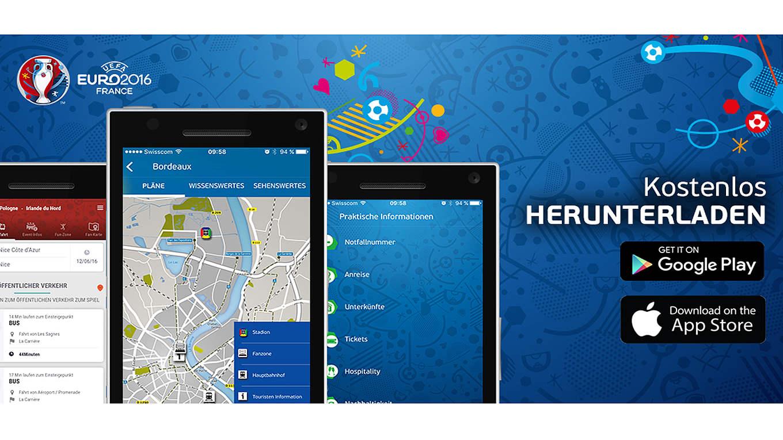 uefa app zur euro 2016 kostenlos f r fans dfb. Black Bedroom Furniture Sets. Home Design Ideas