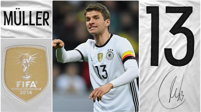 Zum 13. Geburtstag: Signiertes Trikot von Thomas Müller