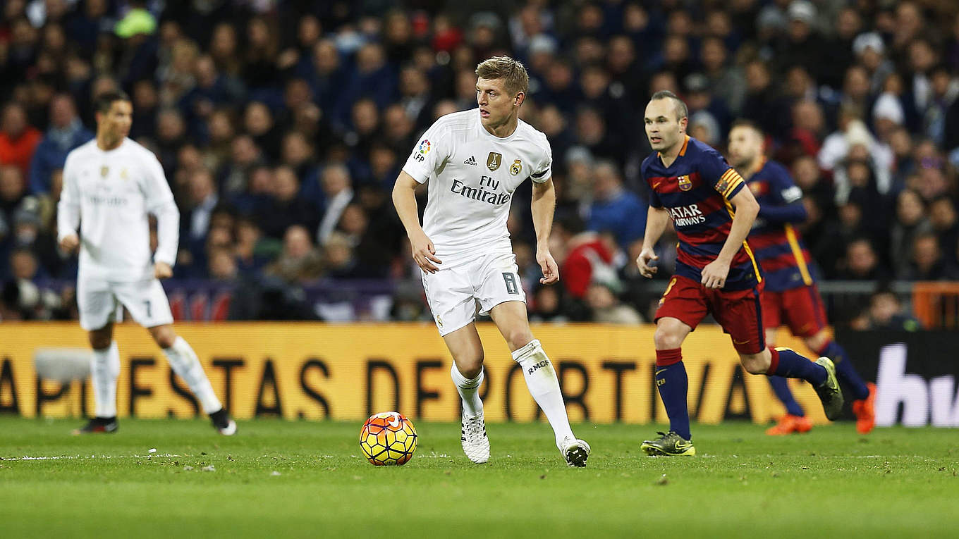 Barca vs Real Fourth Clásico for Toni Kroos DFB Deutscher