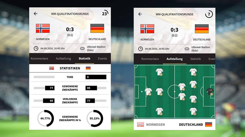 App Mit Dem Liveticker Stets Auf Ballhohe Dfb