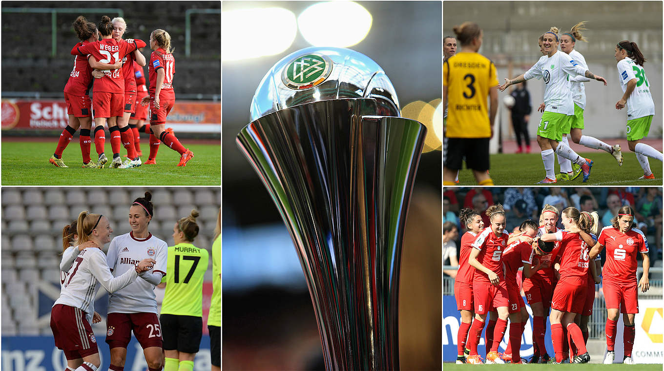pokal achtelfinale wolfsburg in bielefeld frankfurt empf ngt essen dfb deutscher fu ball. Black Bedroom Furniture Sets. Home Design Ideas