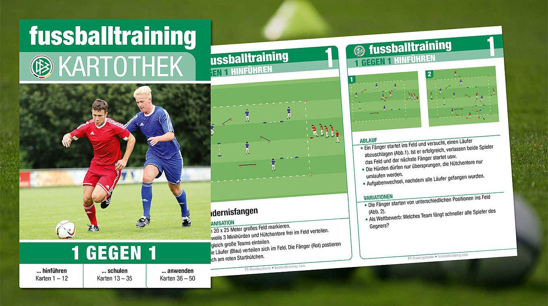 Fussballtraining Kartothek 1 Gegen 1 Dfb Deutscher