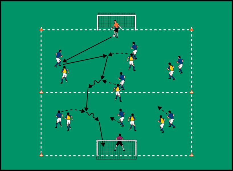 Spieleröffnung Fußball