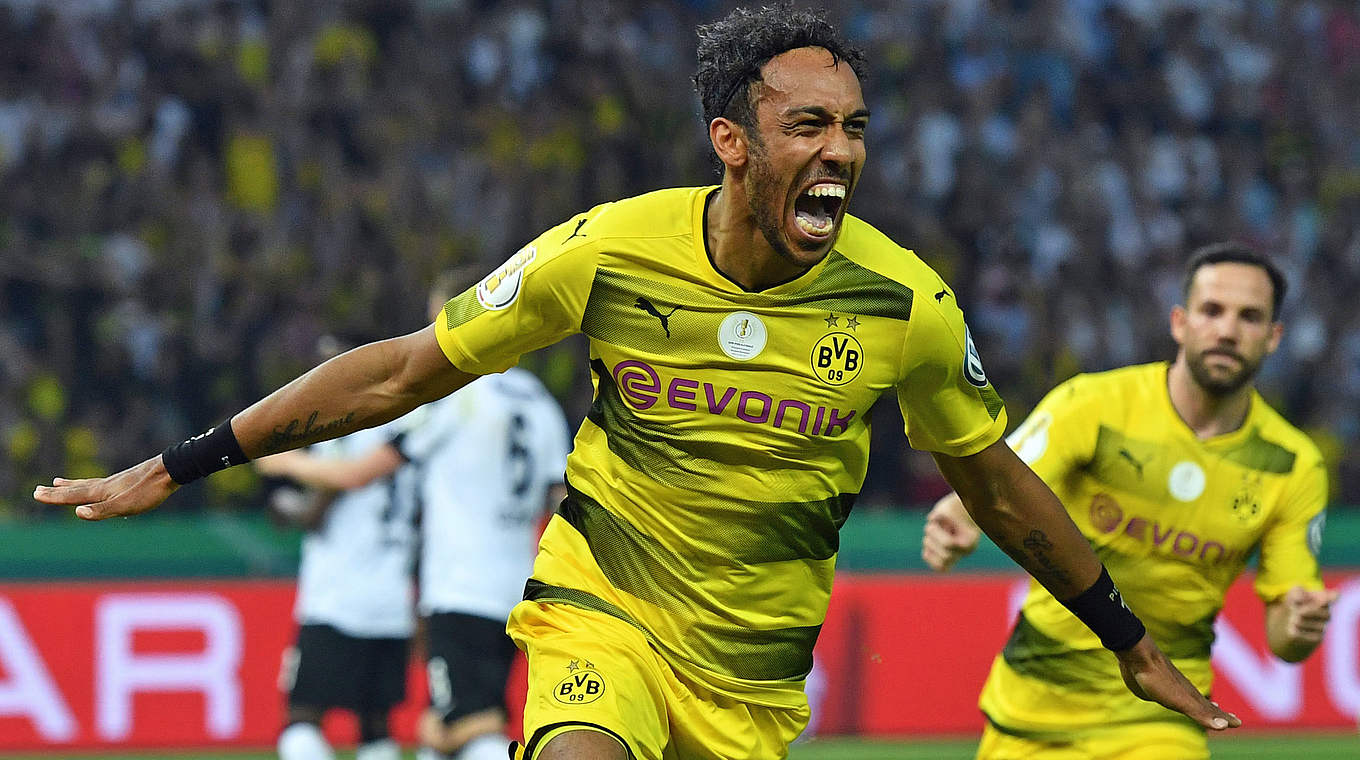 Aubameyang Picture: Aubameyang Penalty Secures DFB-Pokal For Borussia Dortmund