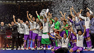 Zwölfter Triumph in Europas Königsklasse: Real Madrid jubelt in Cardiff  © AFP/Getty Images