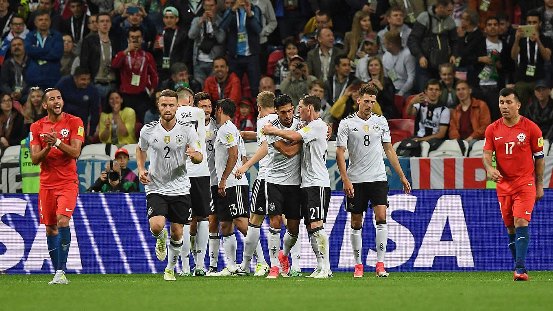 Aufstellung Line Up #16 Finale Chile Germany Deutschland Confed Cup Final Finale