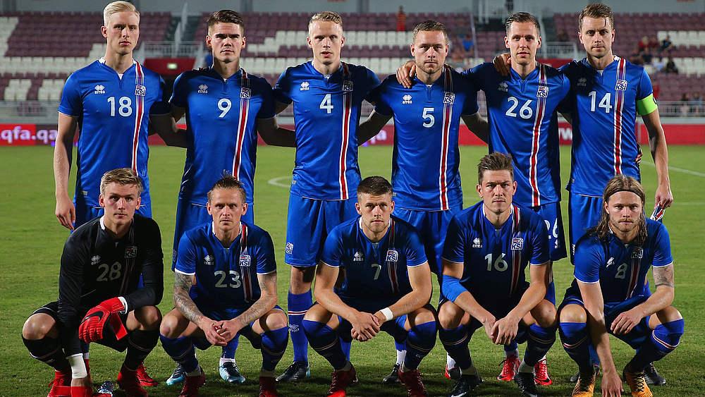 Isländische Fussballmannschaft