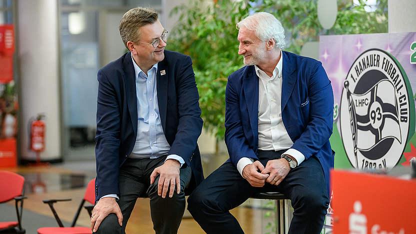 Hanau 93 Talkrunde Mit Grindel Und Voller