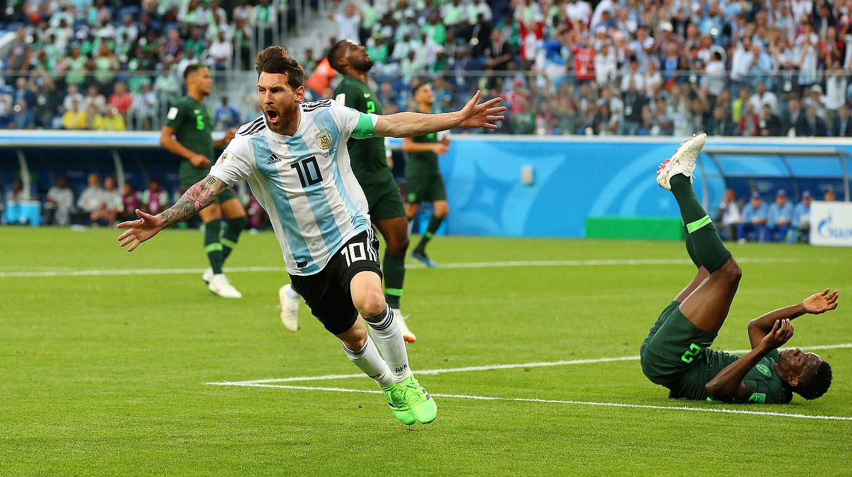Erzielt den 100. Treffer der WM 2018: Argentiniens Superstar Lionel Messi © 2018 Getty Images