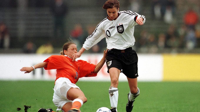 Martina Voss-Tecklenburg earned 125 caps for the DFB-Frauen. ©
