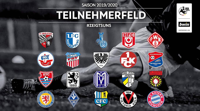 Teilnehmerfeld Der 3 Liga Fur Saison 2019 2020 Offiziell