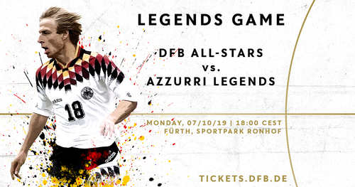 New DFB-All-Stars to play Azzurri Legends on 7th October in Fürth
