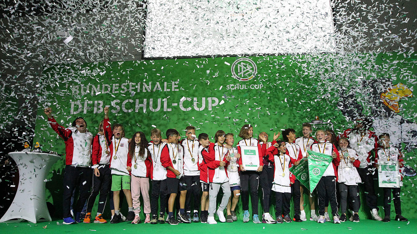 Dfb Schul Cup Bundesfinale Begeistert Alle Dfb