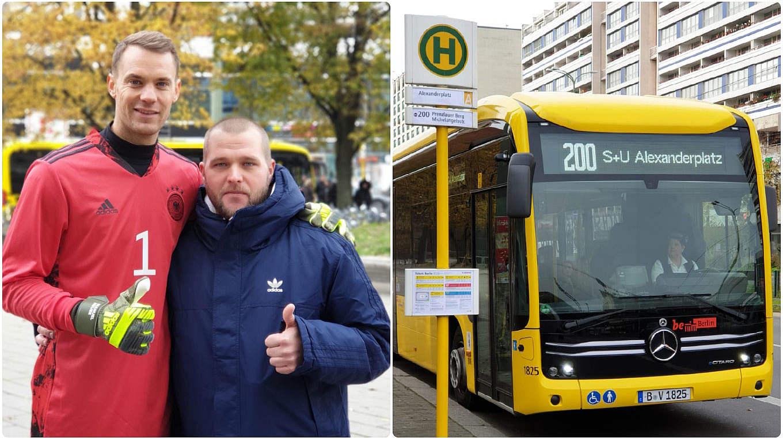 """Fan Pascal Reunert com Manuel Neuer em Berlim: """"Foi realmente uma experiência colle"""" © equipe nacional do Fan Club"""
