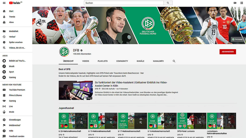Youtube Kanal Knackt Marke Von 150 000 Abonnenten Dfb