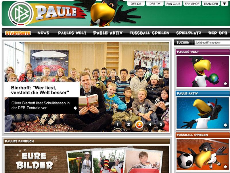 Dfb Kinderwebsite Neues Virtuelles Nest Für Paule Dfb